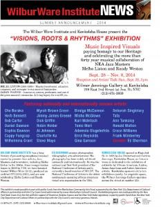 RESIZED Fine Arts Newsletter Summer 2014 ExhibitD-4 (2)edited