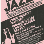 Jymie Merritt Quartet and the Charlie Rouse/Lonnie Hillyer Sextet
