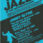 Jimmy Slyde with Shirley Scott, Major Holley, and Bobby Durham